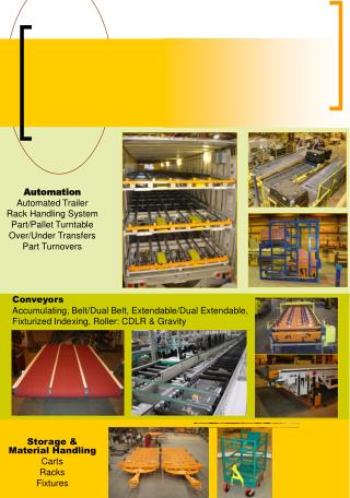 Automation Automated Trailer Rack Handling System Part/Pallet Turntable Over/Under Transfers