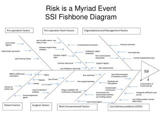 Risk is a Myriad Event  SSI Fishbone Diagram