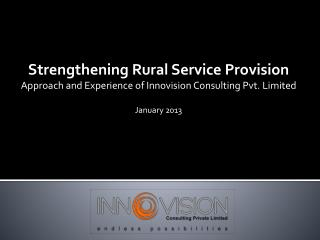 Strengthening Rural Service Provision