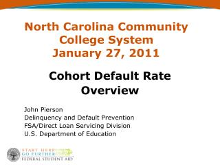 North Carolina Community College System January 27, 2011