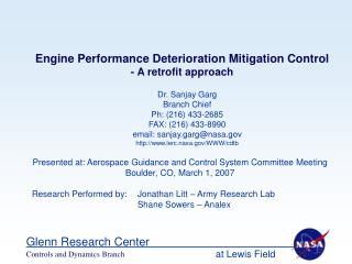 Engine Performance Deterioration Mitigation Control - A retrofit approach