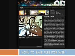 How to save files for web