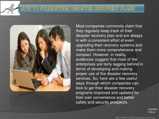 How To Strengthen Disaster Recovery Plans