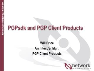 PGPsdk and PGP Client Products