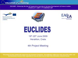 EUCLIDES – Enhancing the Use of Cooperative Learning to Increase Development of Science studies