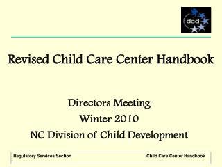 Revised Child Care Center Handbook