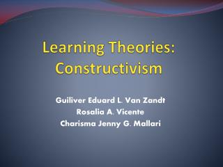 Learning Theories: Constructivism
