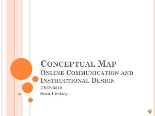 Conceptual Map Online Communication and Instructional Design