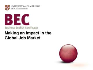 Making an impact in the Global Job Market