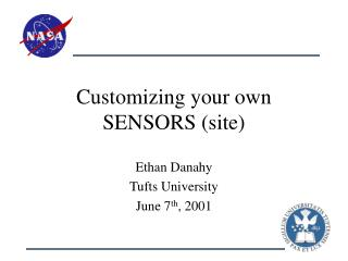 Customizing your own SENSORS (site)