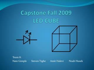Capstone Fall 2009 LED CUBE
