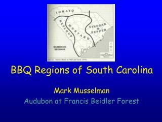 BBQ Regions of South Carolina