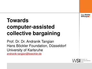 Towards  computer-assisted collective bargaining