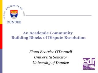 Fiona Beatrice O'Donnell University Solicitor University of Dundee