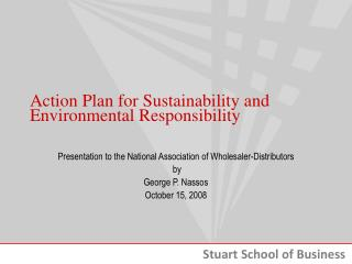 Action Plan for Sustainability and Environmental Responsibility