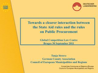 Towards a clearer interaction between the State Aid rules and the rules on Public Procurement