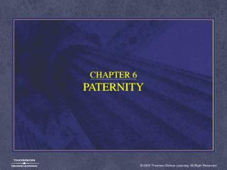 CHAPTER 6 PATERNITY