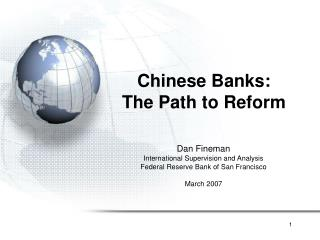 Chinese Banks: The Path to Reform