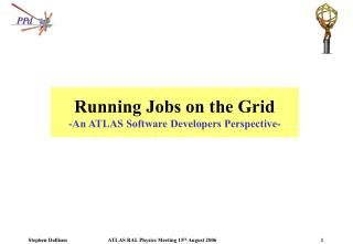 Running Jobs on the Grid -An ATLAS Software Developers Perspective-