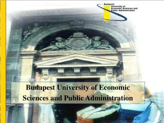 Budapest  University of Economic Sciences and Public Administration