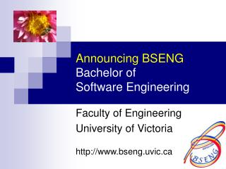 Announcing BSENG Bachelor of Software Engineering