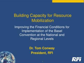 Building  Capacity  for Resource Mobilization