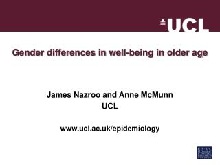 Gender differences in well-being in older age