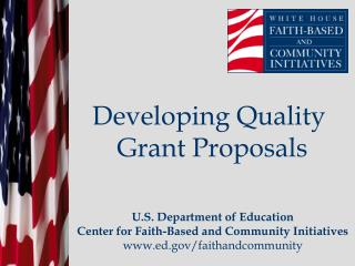 Developing Quality  Grant Proposals