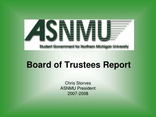 Board of Trustees Report