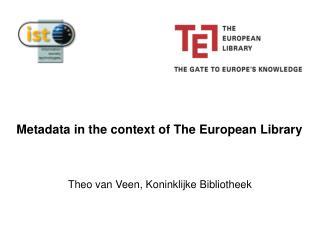 Theo van Veen, Koninklijke Bibliotheek
