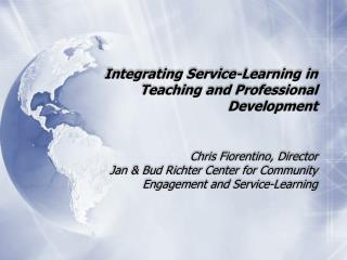 Integrating Service-Learning in Teaching and Professional Development