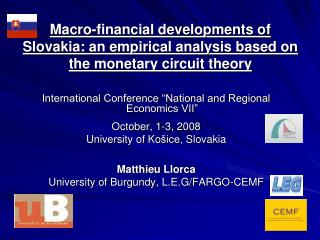 "International Conference ""National and Regional Economics VII"" October, 1-3, 2008"