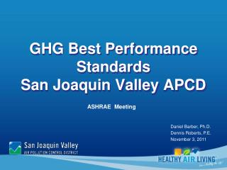 GHG Best Performance Standards San Joaquin Valley APCD