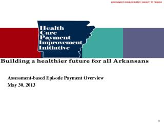 Assessment-based Episode Payment Overview May 30, 2013