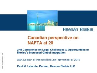 Canadian perspective on NAFTA at 20