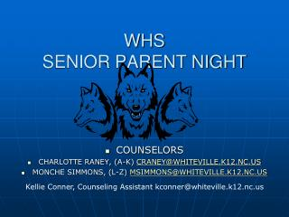 WHS  SENIOR PARENT NIGHT