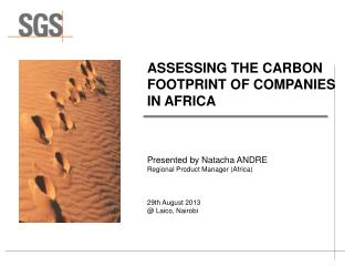 ASSESSING THE CARBON FOOTPRINT OF COMPANIES  IN AFRICA