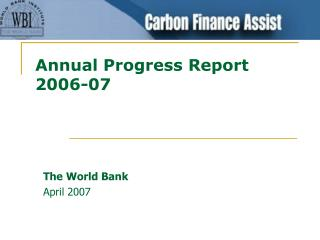 Annual Progress Report 2006-07