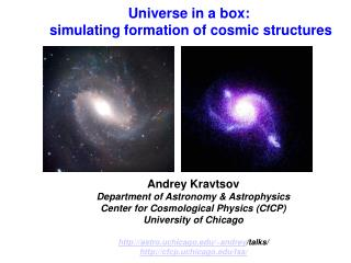 Universe in a box:  simulating formation of cosmic structures