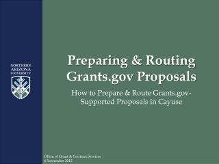 Preparing & Routing Grants Proposals