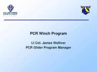 PCR Winch Program