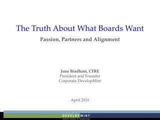 The Truth About What Boards Want