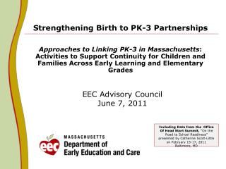 EEC Advisory Council June 7, 2011