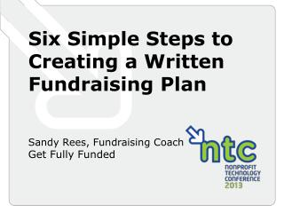 Six Simple Steps to Creating a Written Fundraising Plan