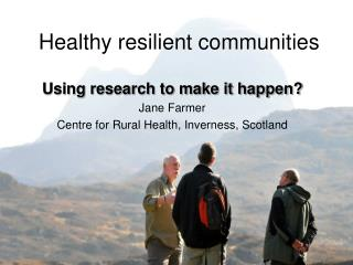 Healthy resilient communities