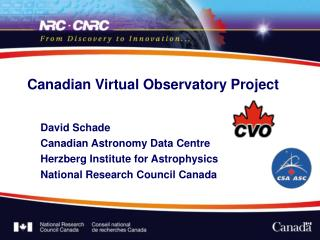 Canadian Virtual Observatory Project