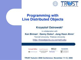 Programming with  Live Distributed Objects