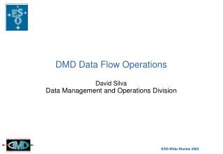 DMD Data Flow Operations David Silva Data Management and Operations Division