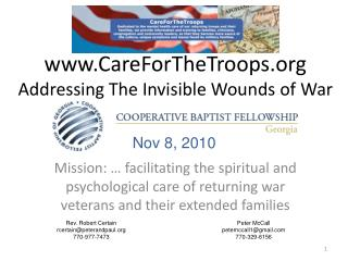 CareForTheTroops Addressing The Invisible Wounds of War