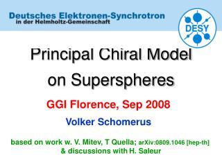 Principal Chiral Model   on Superspheres